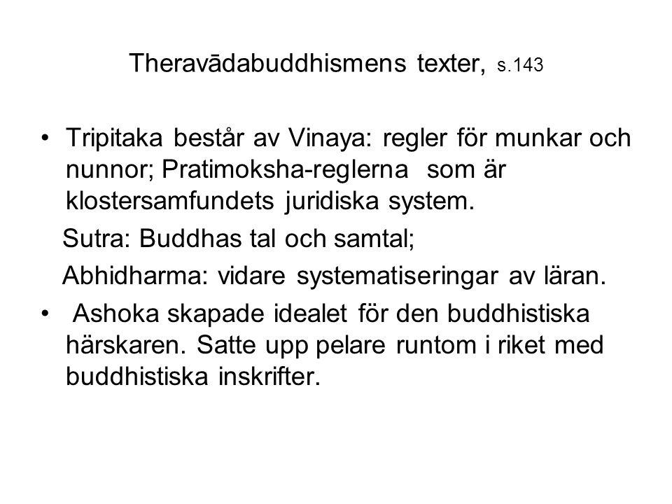 Theravādabuddhismens texter, s.143 Tripitaka består av Vinaya: regler för munkar och nunnor; Pratimoksha-reglerna som är klostersamfundets juridiska s