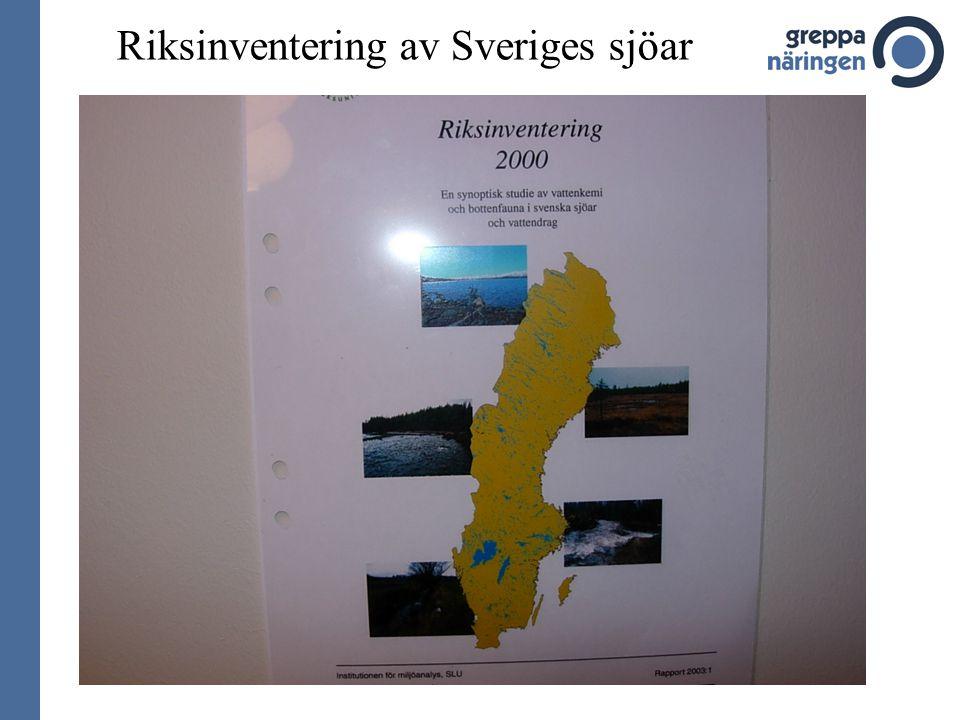 Riksinventering av Sveriges sjöar