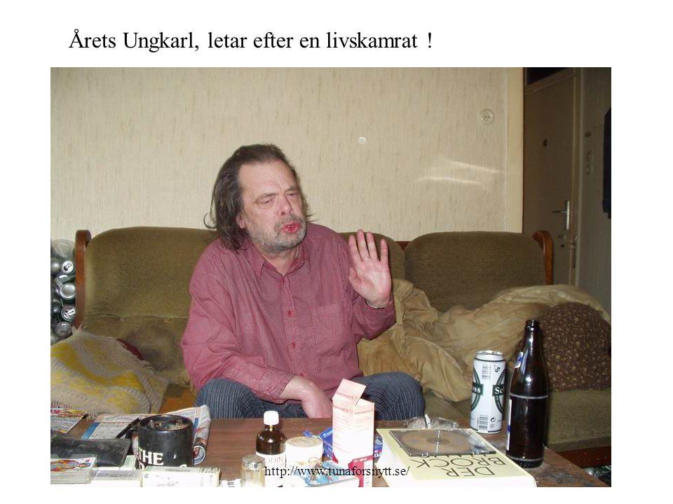 Han söker en kvinna som kan ta hand om både man och hem... http://www.tunaforsnytt.se/