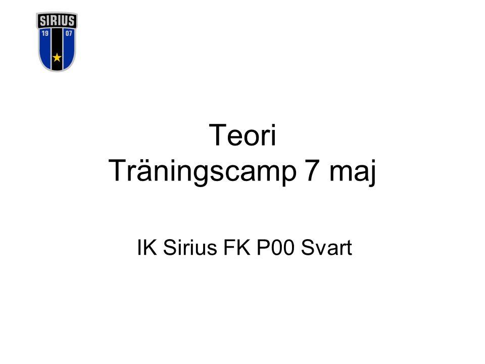 Teori Träningscamp 7 maj IK Sirius FK P00 Svart