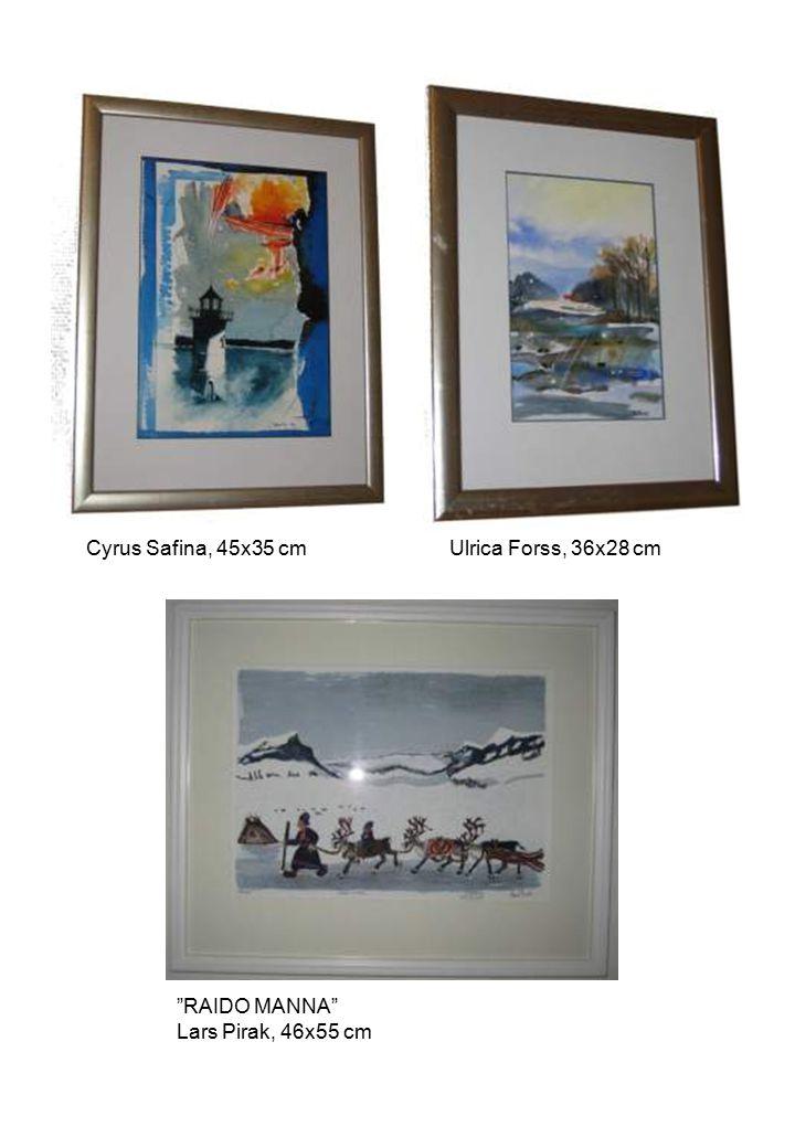 """RAIDO MANNA"" Lars Pirak, 46x55 cm Cyrus Safina, 45x35 cmUlrica Forss, 36x28 cm"