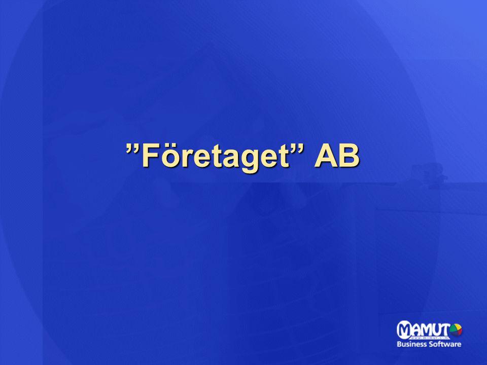 """""""Företaget"""" AB"""