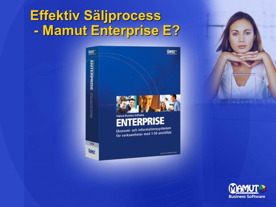 Effektiv Säljprocess - Mamut Enterprise E?