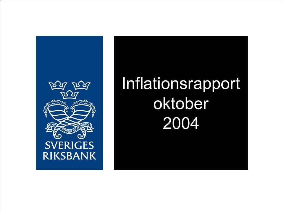 Inflationsrapport oktober 2004