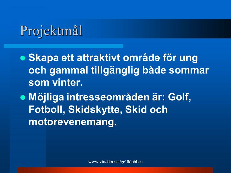 www.vindeln.net/golfklubben Beskrivning Enligt dagens miljökrav så tillverkas en konstruktionstipp för mottagande av schaktmassor som möjliggör terrassering och planläggning av området.