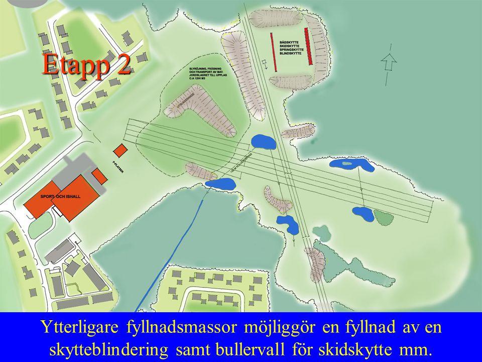 I detta skede planeras för ett antal golfgreener, vandringsstråk, grillstuga mm. Etapp 3