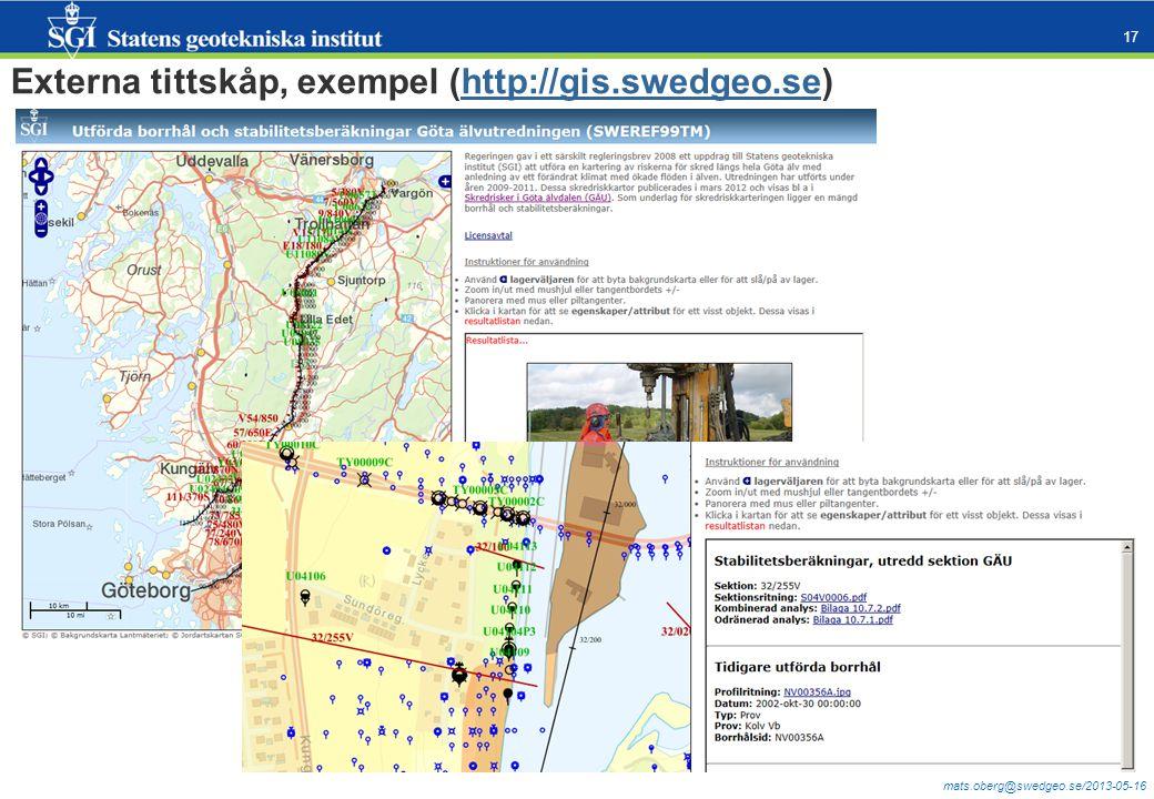 mats.oberg@swedgeo.se/2013-05-16 17 Externa tittskåp, exempel (http://gis.swedgeo.se)http://gis.swedgeo.se