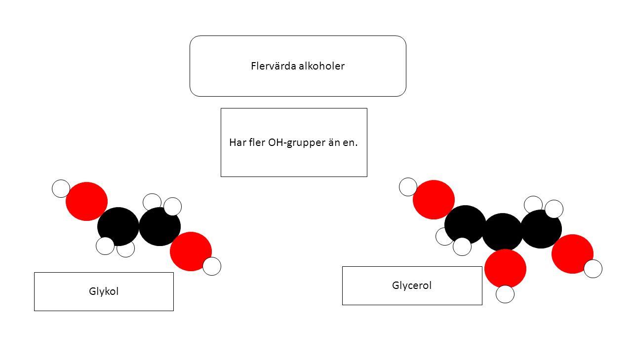 Organiska syror Organiska syror kan bildas av alkoholer.