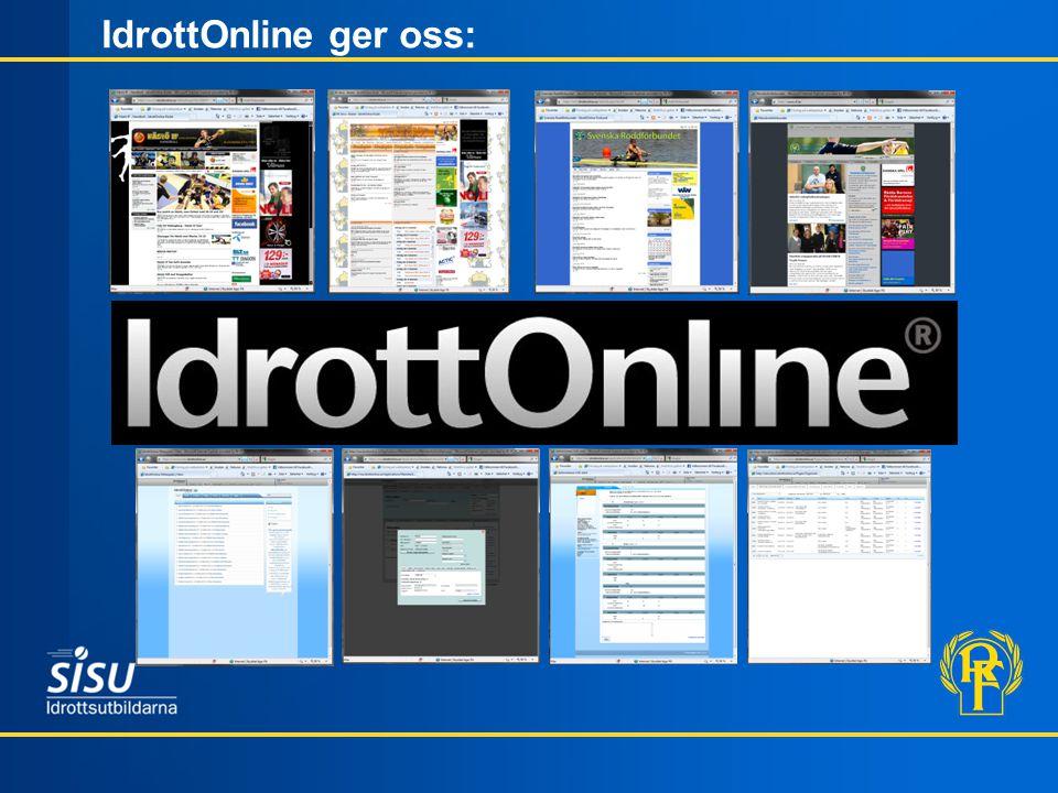 IdrottOnline ger oss: