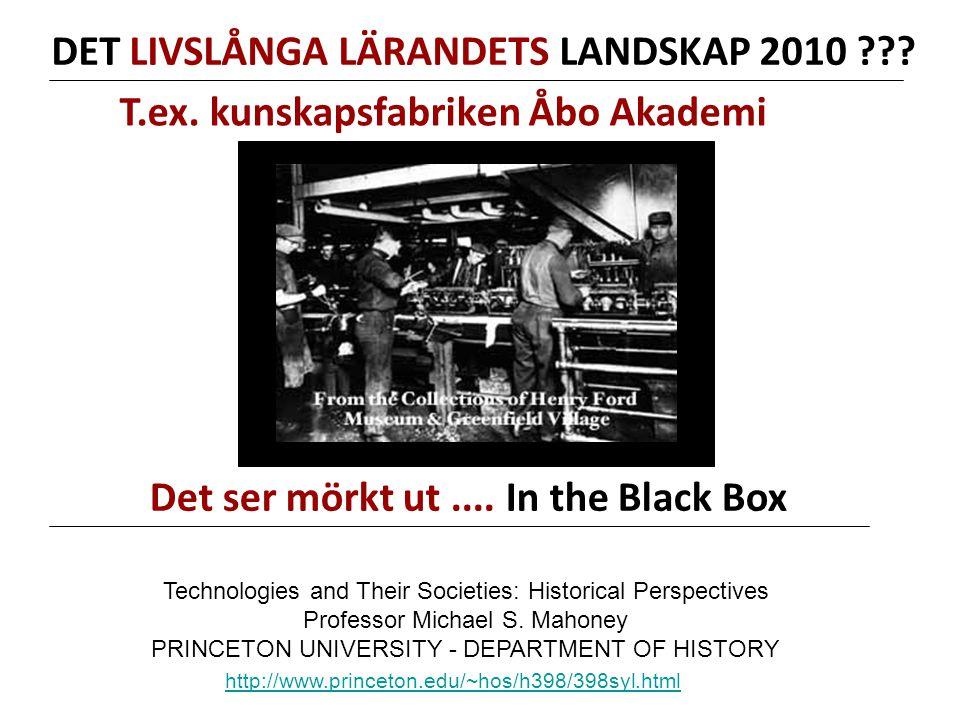 DET LIVSLÅNGA LÄRANDETS LANDSKAP 2010 .