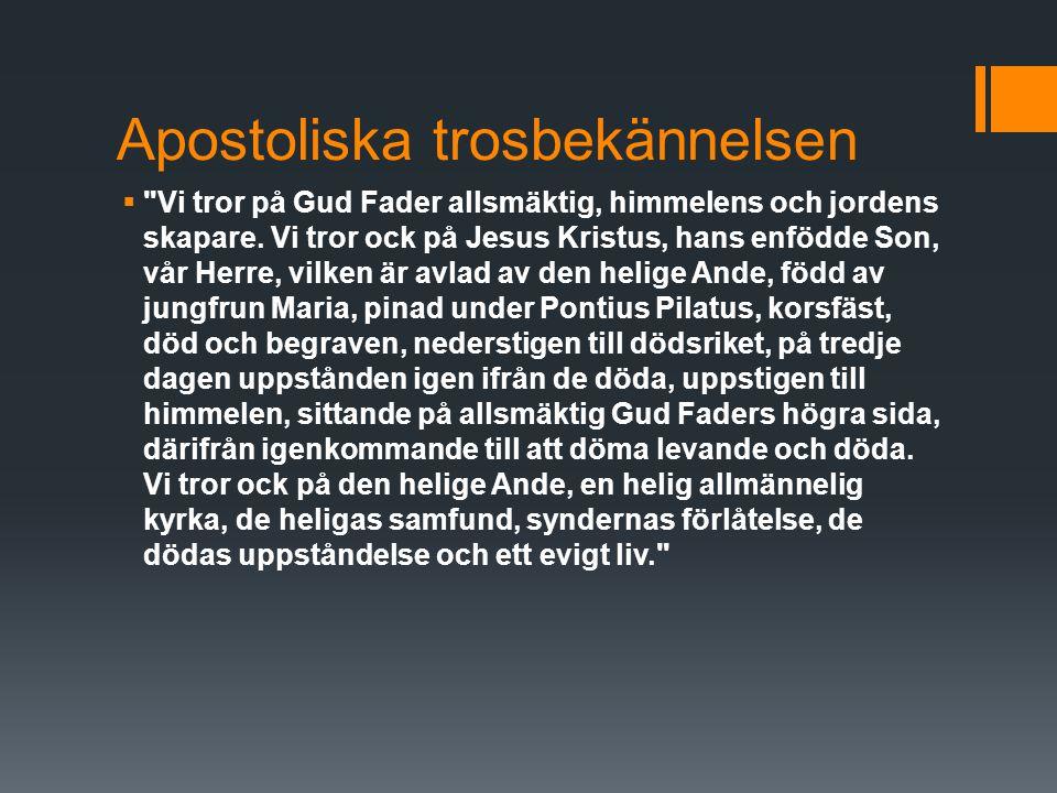 Apostoliska trosbekännelsen 