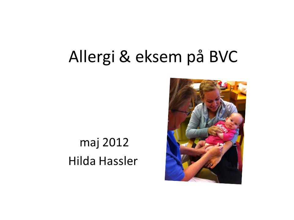 Allergi & eksem på BVC maj 2012 Hilda Hassler