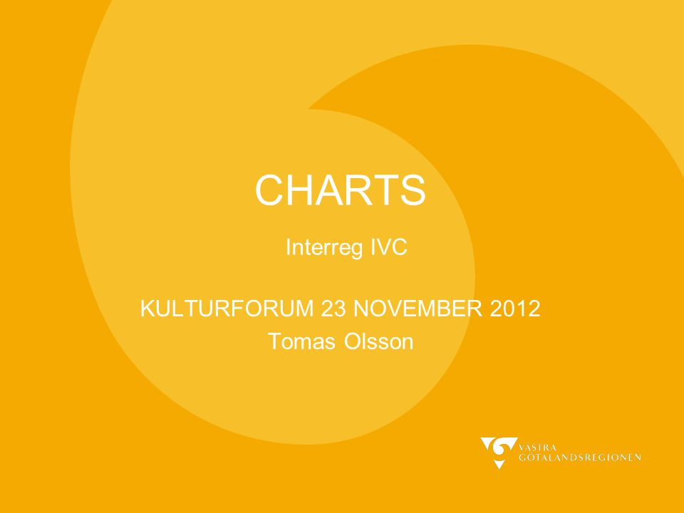 CHARTS Interreg IVC KULTURFORUM 23 NOVEMBER 2012 Tomas Olsson