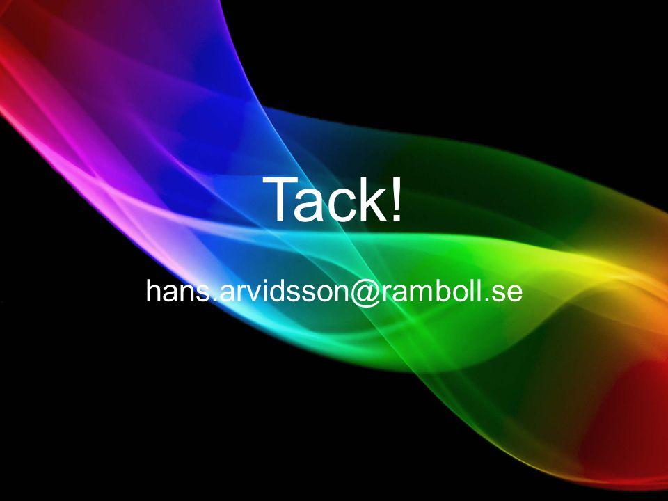Tack! hans.arvidsson@ramboll.se