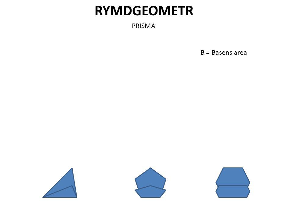RYMDGEOMETRI PRISMA B = Basens area