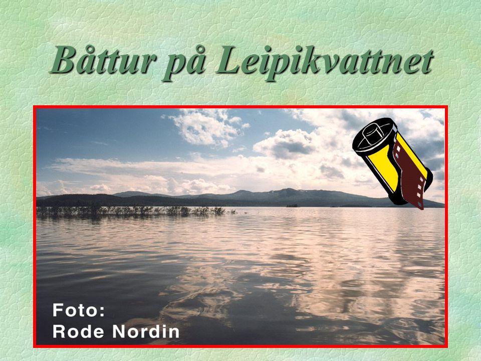 Båttur på Leipikvattnet