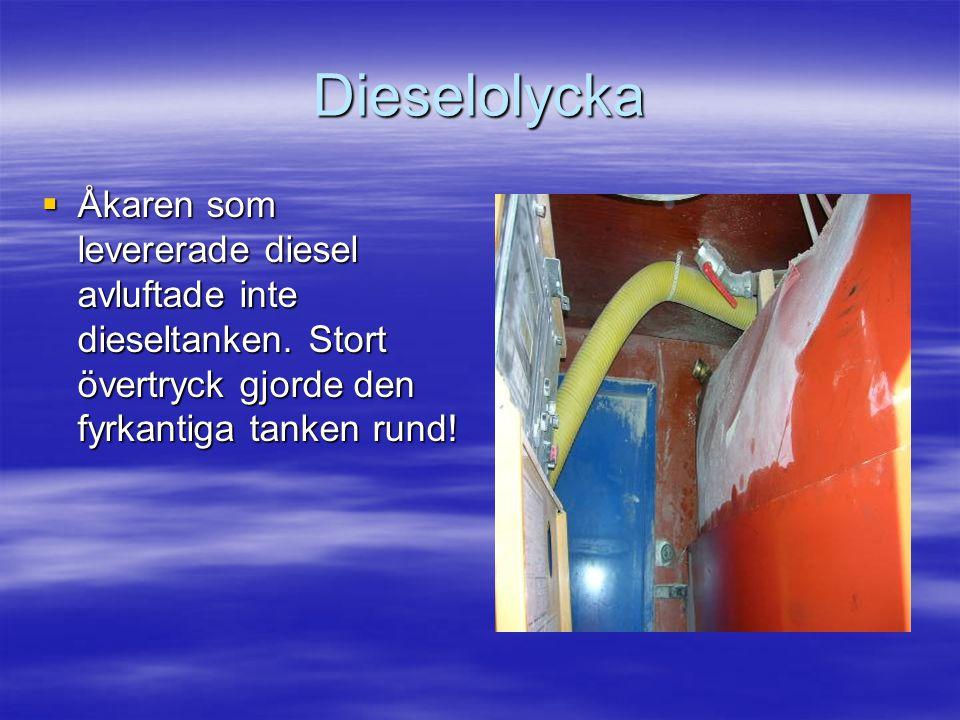 Dieselolycka  Åkaren som levererade diesel avluftade inte dieseltanken.