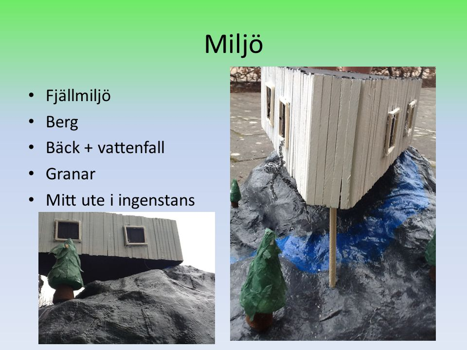 Miljö Fjällmiljö Berg Bäck + vattenfall Granar Mitt ute i ingenstans