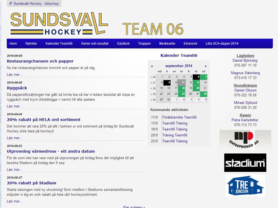 Lilla SCA-dagen Vår första cup Lilla SCA-dagen = Ett sammandrag för spelare födda 2006.