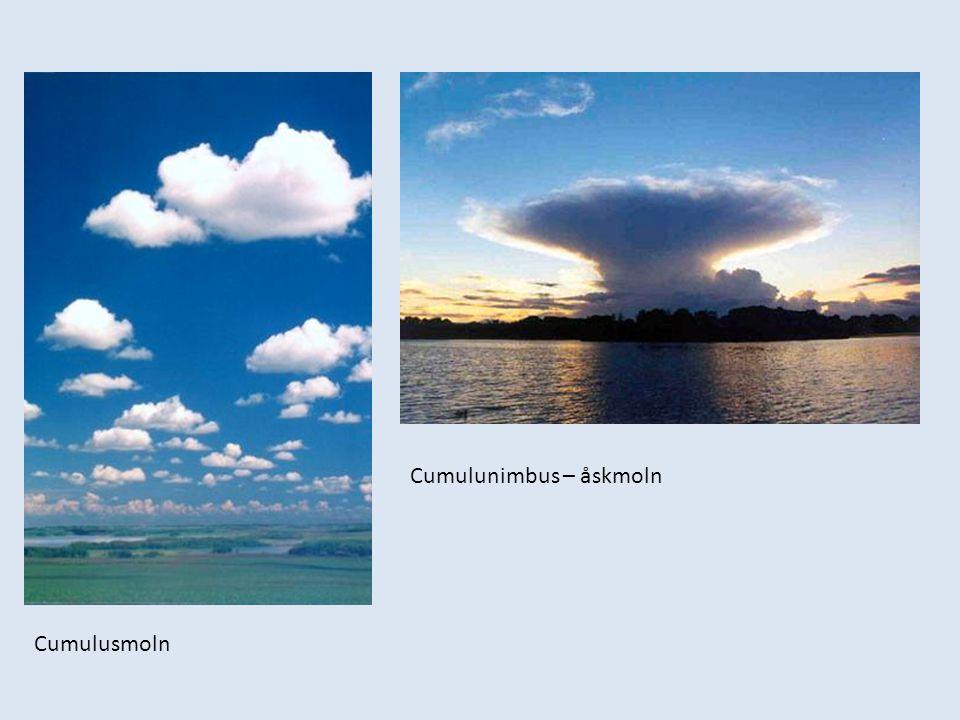 Cumulusmoln Cumulunimbus – åskmoln
