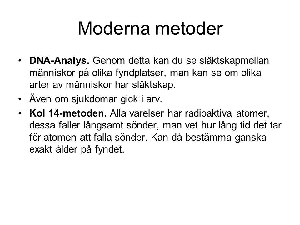 Moderna metoder DNA-Analys.