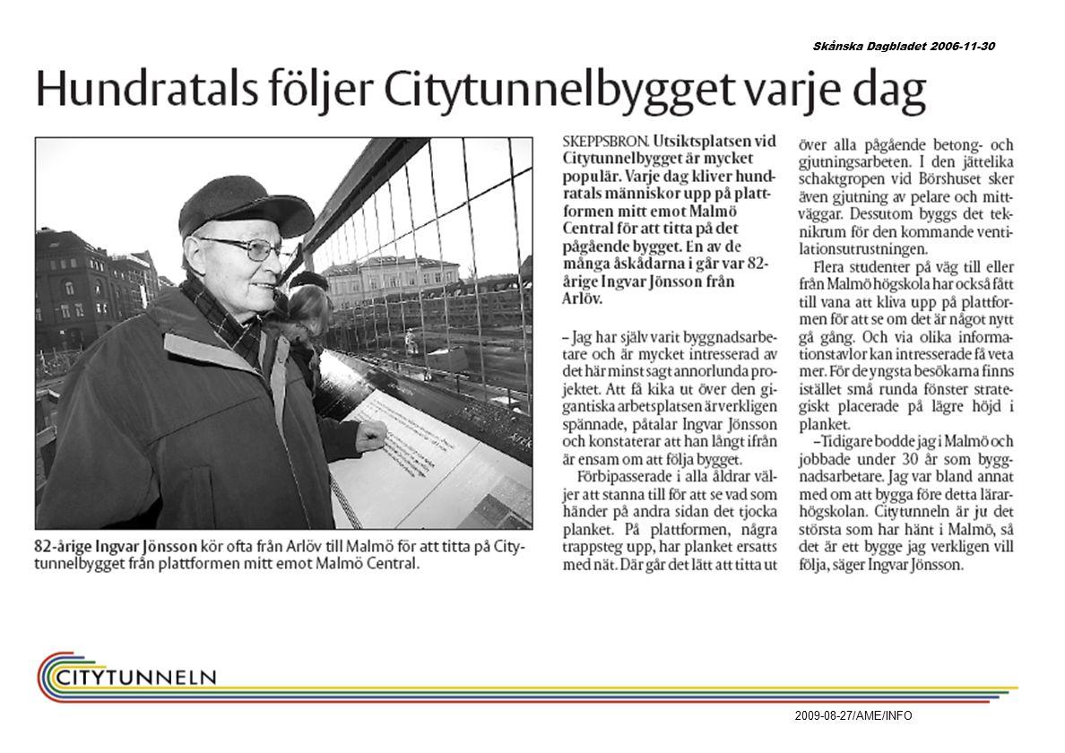 2009-08-27/AME/INFO Skånska Dagbladet 2006-11-30