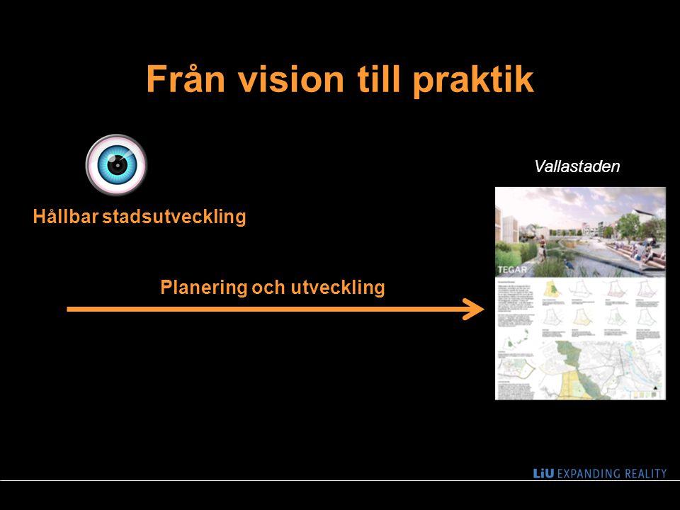Från vision till praktik 3 Planering och utveckling Hållbar stadsutveckling Vallastaden