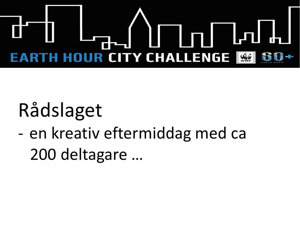 Rådslaget -en kreativ eftermiddag med ca 200 deltagare …