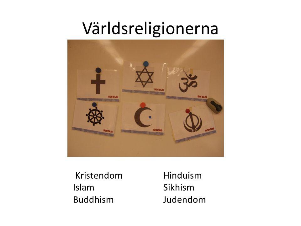 Världsreligionerna KristendomHinduism IslamSikhism BuddhismJudendom