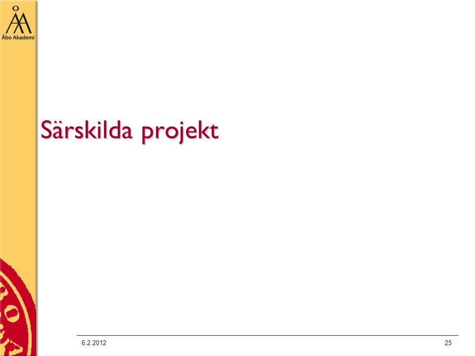 Särskilda projekt 6.2.201225