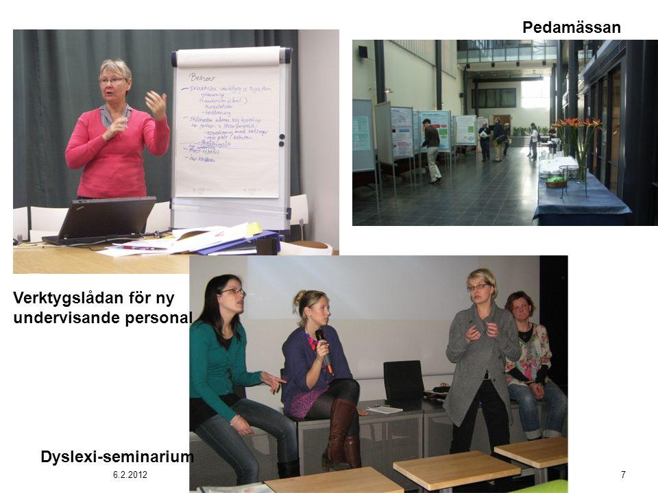 Dyslexi-seminarium Verktygslådan för ny undervisande personal Pedamässan 6.2.20127