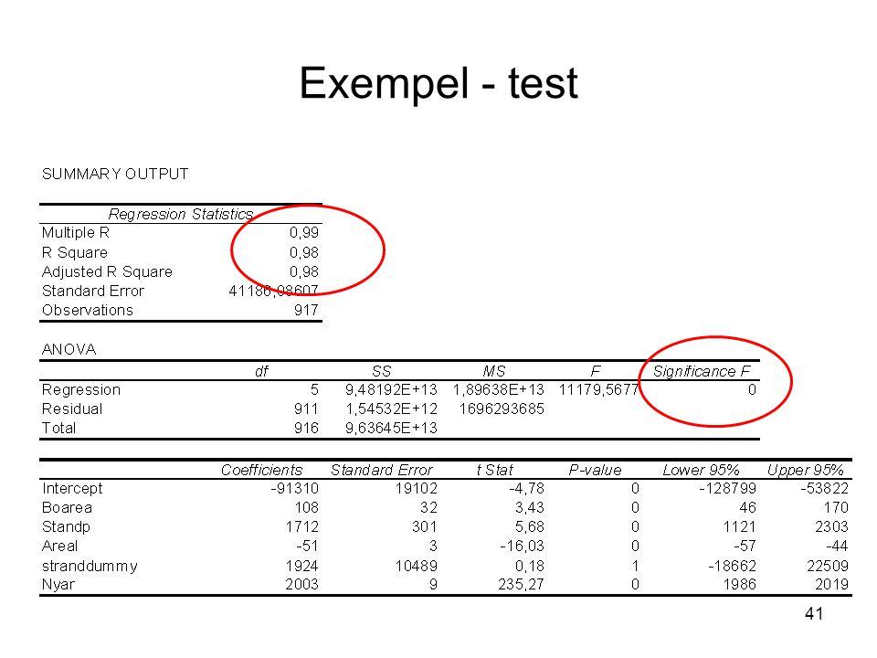 41 Exempel - test
