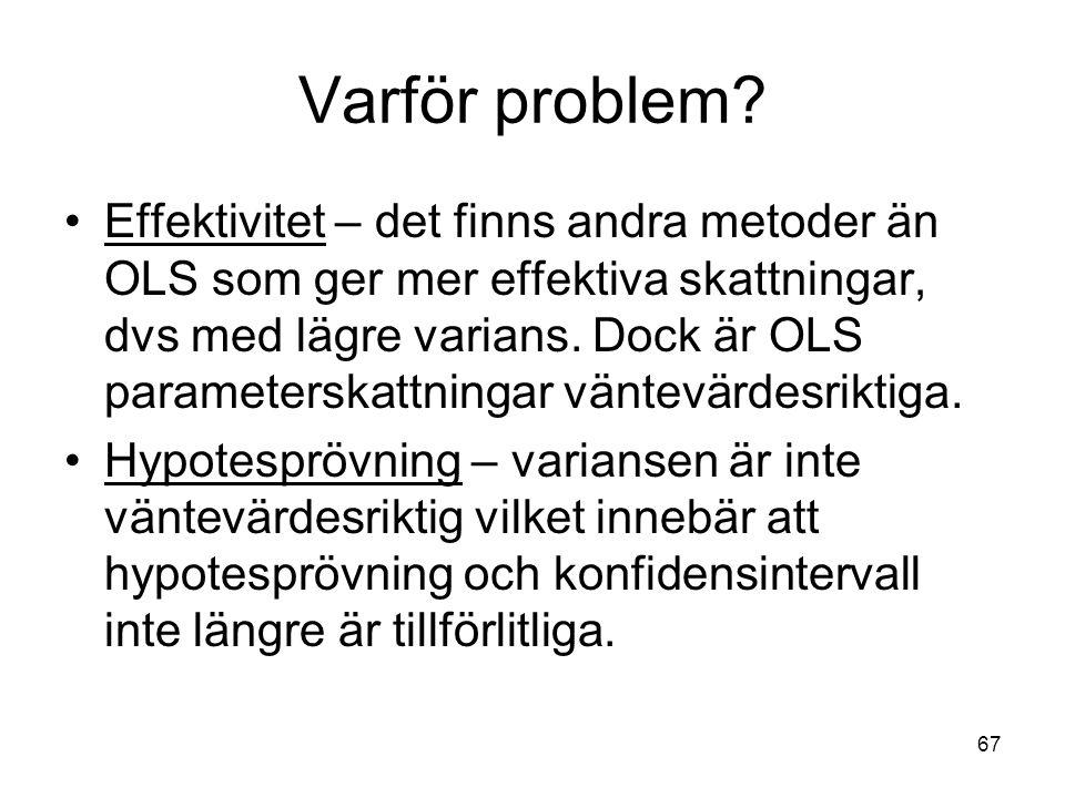 67 Varför problem.