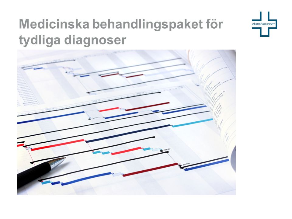 Medicinska behandlingspaket för tydliga diagnoser