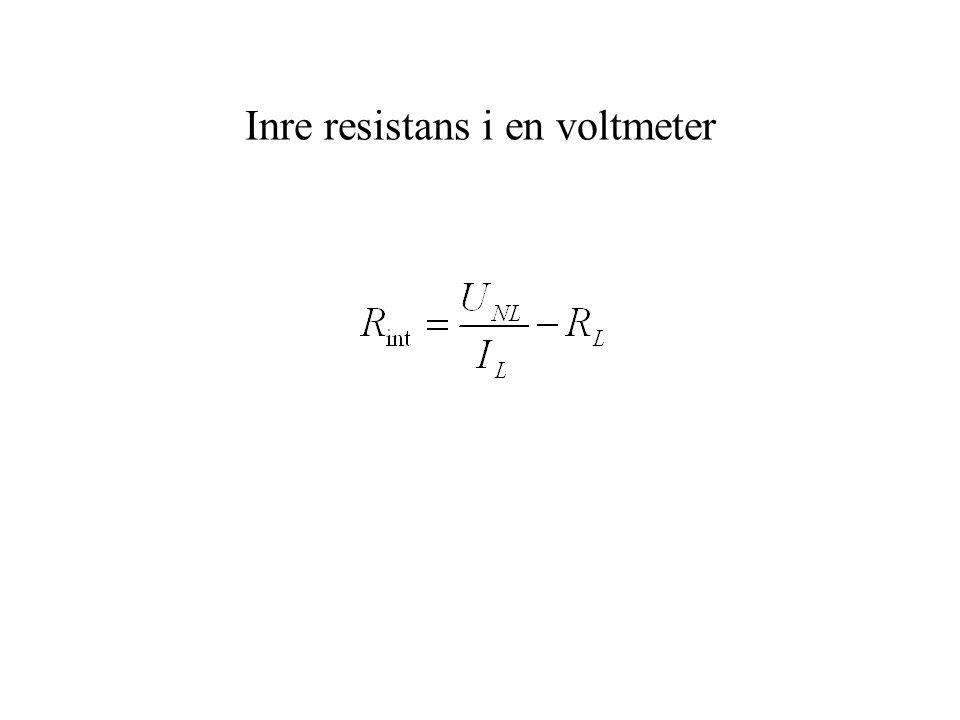 Inre resistans i en voltmeter