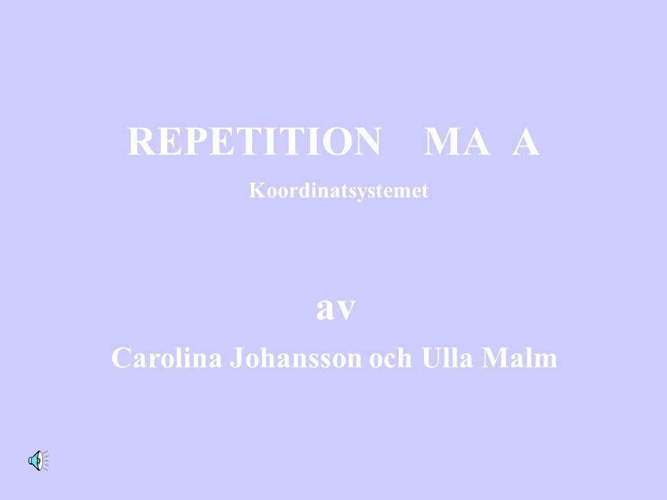 REPETITION MA A av Carolina Johansson och Ulla Malm Koordinatsystemet