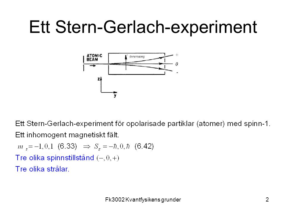 Fk3002 Kvantfysikens grunder13 Problem
