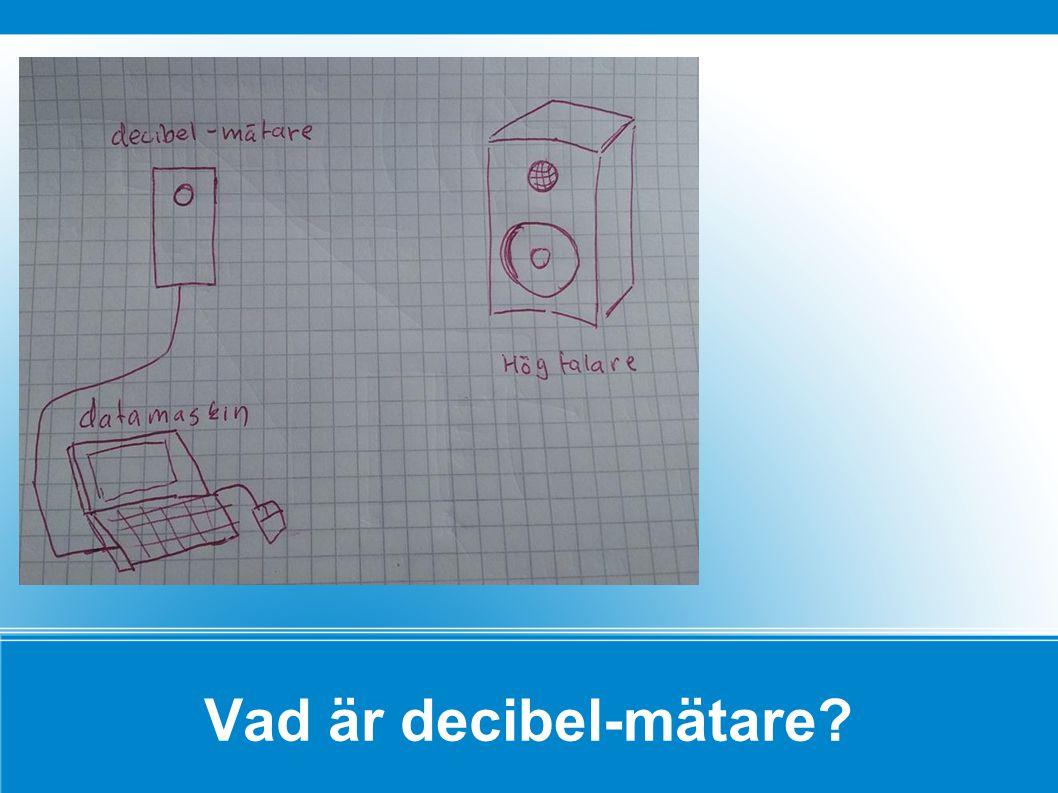 Vad är decibel-mätare
