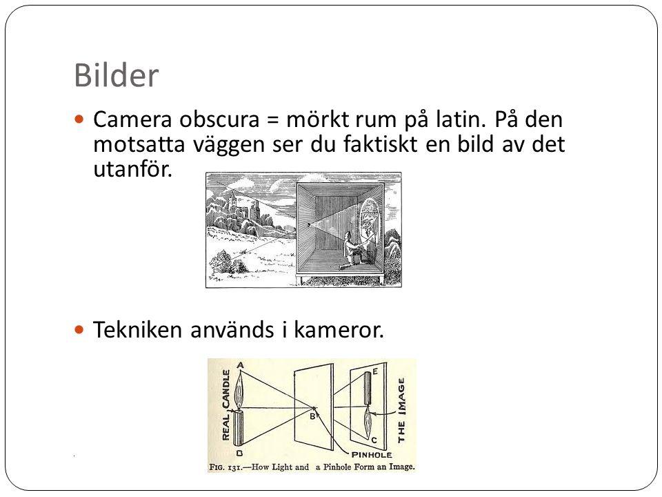 Bilder Camera obscura = mörkt rum på latin.