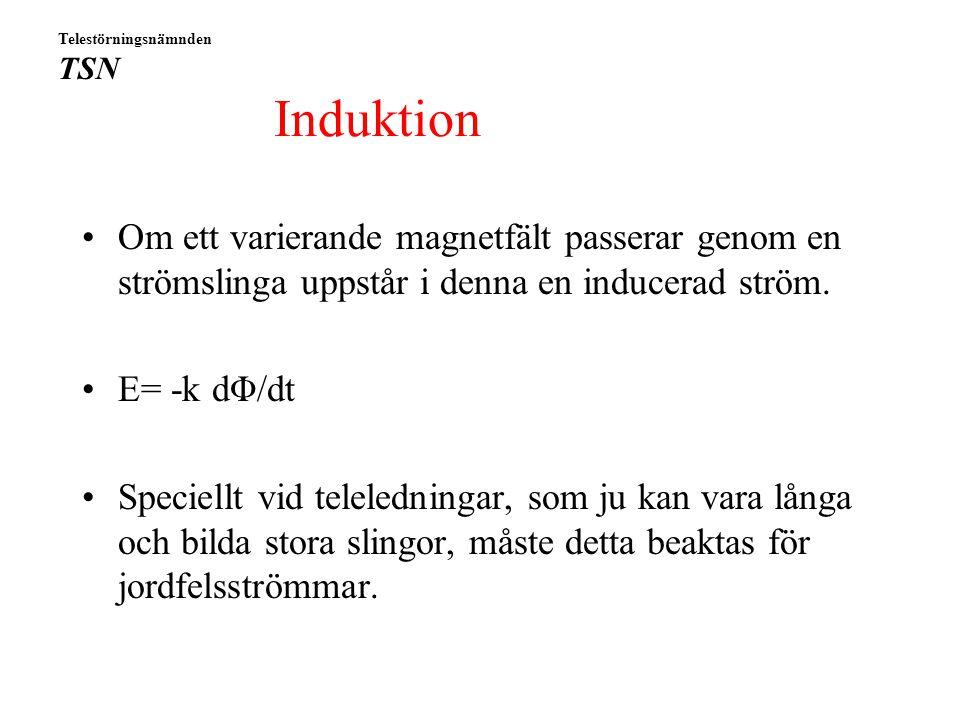 """Markpotential som funktion av avstånd från jordfelet Från """"Jordning av stationer och ställverk"""", VAST 1987 Telestörningsnämnden TSN"""