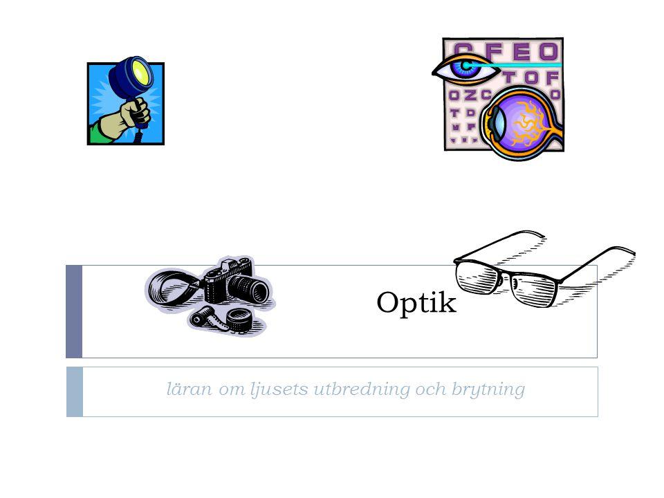 Optik läran om ljusets utbredning och brytning
