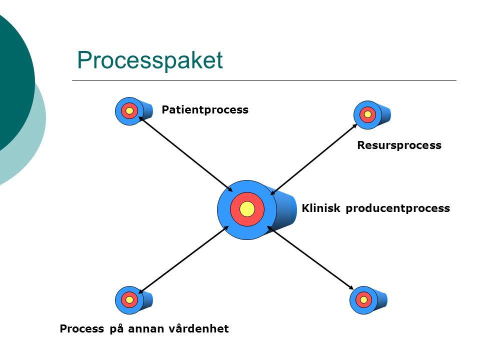 Processpaket Klinisk producentprocess Process på annan vårdenhet Patientprocess Resursprocess