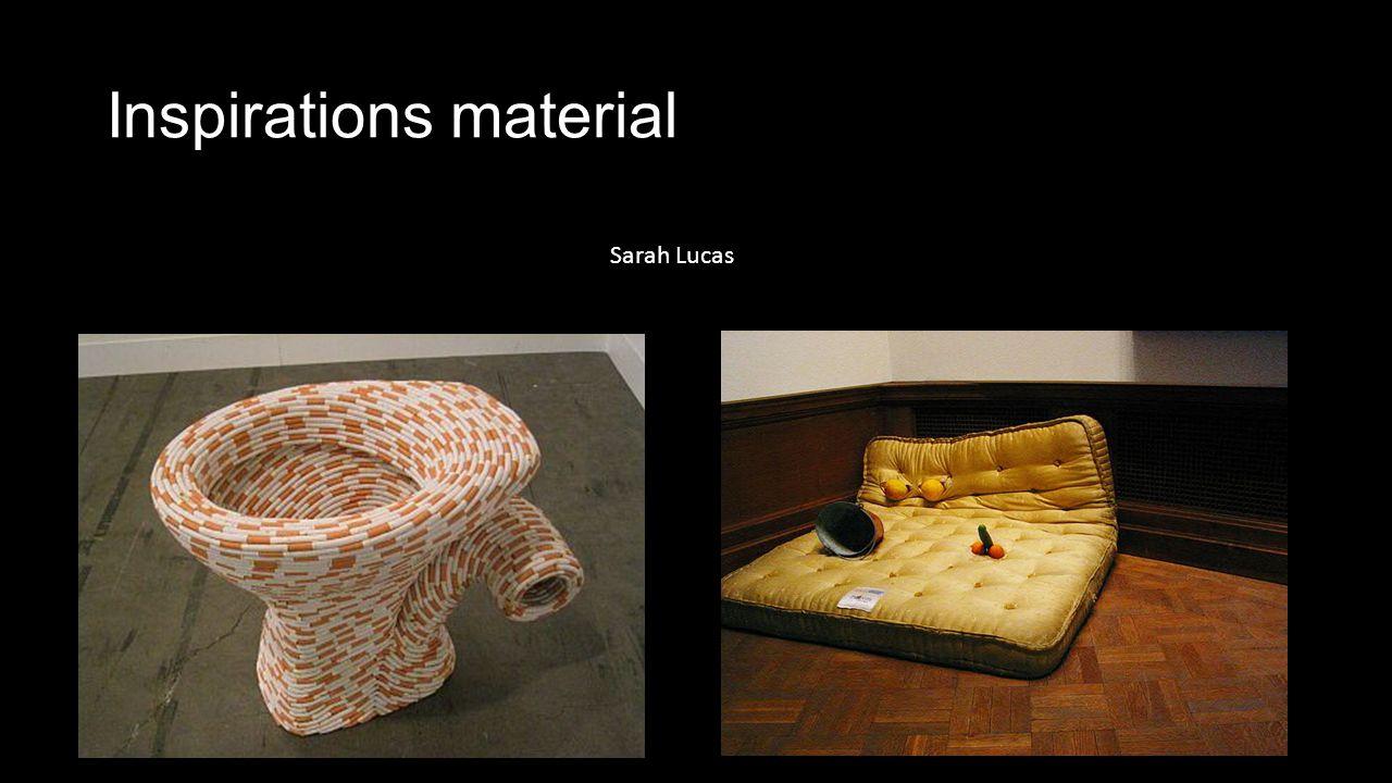 Inspirations material Sarah Lucas