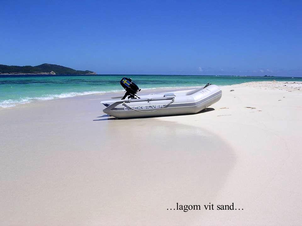 …lagom vit sand…
