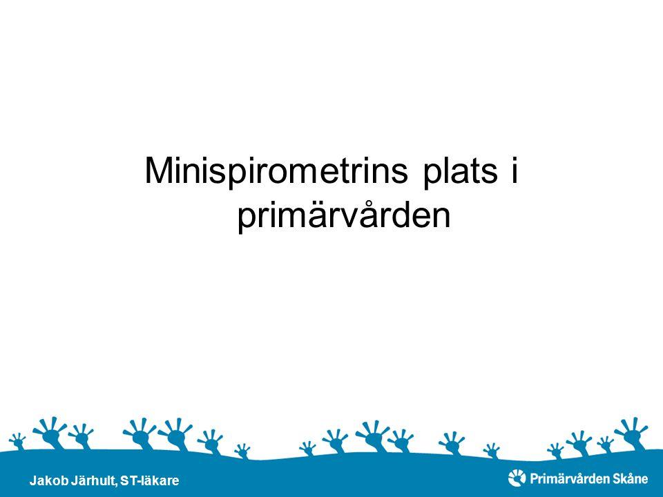 Minispirometrins plats i primärvården Jakob Järhult, ST-läkare