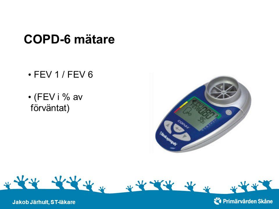 COPD-6 mätare Jakob Järhult, ST-läkare FEV 1 / FEV 6 (FEV i % av förväntat)