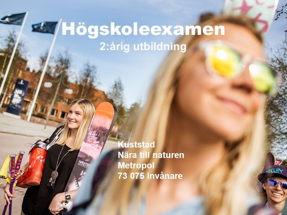 Institutionen för Samhällsbyggnad och Naturresurser – SBN | 1 | www.ltu.se/org/sbn Kuststad Nära till naturen Metropol 73 075 Invånare Högskoleexamen 2:årig utbildning