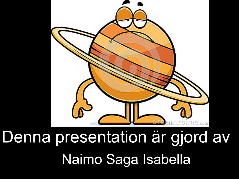 Denna presentation är gjord av Naimo Saga Isabella