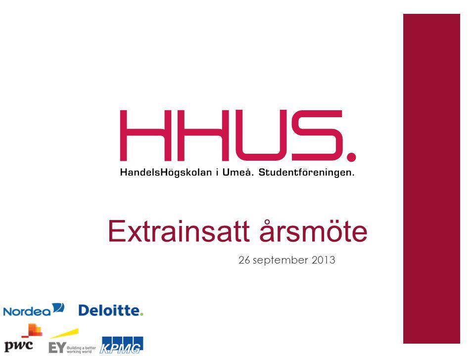 Extrainsatt årsmöte 26 september 2013