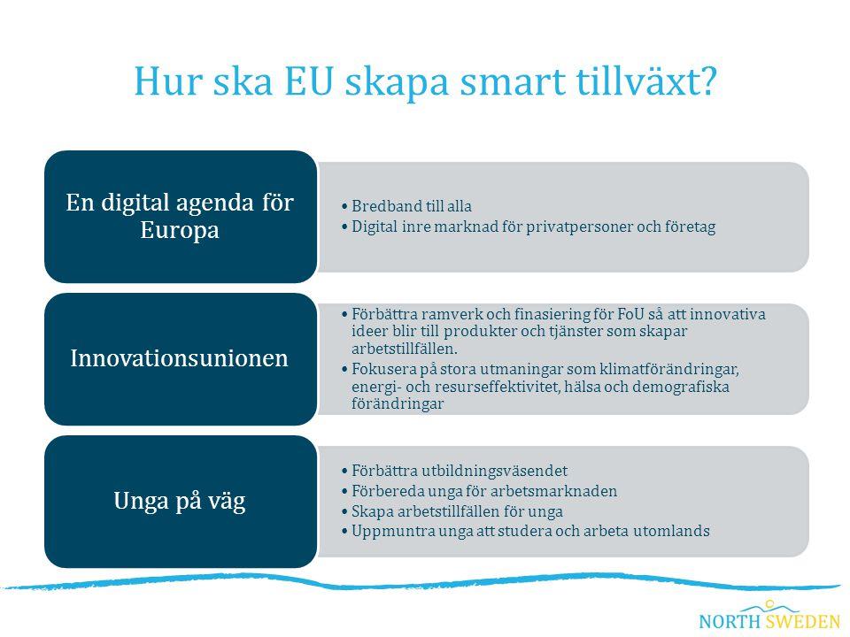 Hur ska EU skapa smart tillväxt.